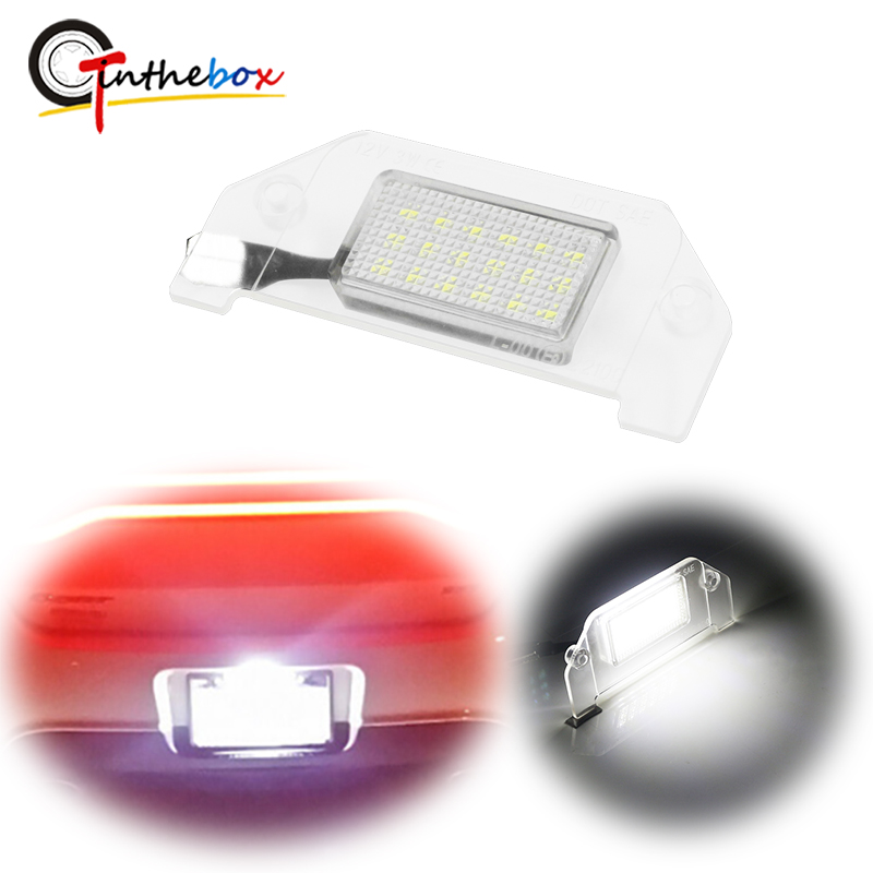 Gtinthebox 1PC <font><b>18</b></font>-<font><b>SMD</b></font> 6000K White LED License Plate Light For Dodge Charger Magnum Challenger Avenger Dart Chrysler 300 etc 12V image