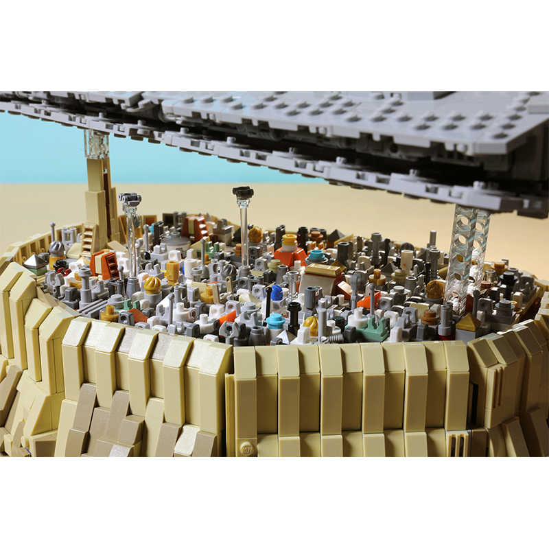 BuildMoc Nuovo star Nave Da Crociera Wars L'impero Sopra Jedha Città MOC 5000 Pcs Building Block Giocattolo Per Il Regalo Di Natale