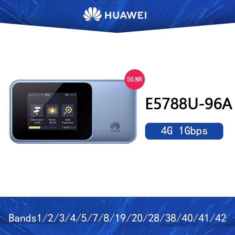 Nuevo Huawei E5788 4g lte router E5788U-96A LTE-A Pro Mifi Cat16 1Gbps velocidad bolsillo móvil 4G WiFi Router nfc Superbat antena Dual 6DBi omnidireccional enchufe de RP-SMA macho (pin hembra) conector para interior Wi-Fi señal de rango inalámbrico