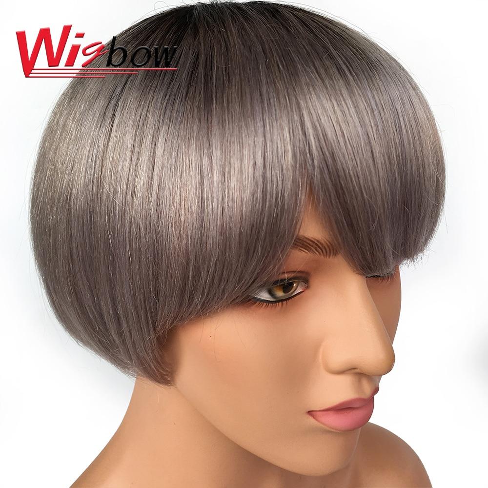 Short Human Hair Wigs For Woman Remy Brazilian Short Hair Wigs Bob Wigs Ladies Cheep Wigs Black Women