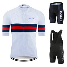 LECOL Cycling Jersey Clothing Bicycle Mtb Bike Downhill Breathable Quick Dry Shirt Men Short Sleeve Set 2021 Pro Team Summer