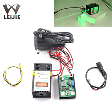 515nm 520nm 1000mW 1W 12V 40*65mm DOT High Power Green Laser Module TTL Lone time Working with Cooling Fan Laser Bird Repeller 1w laser