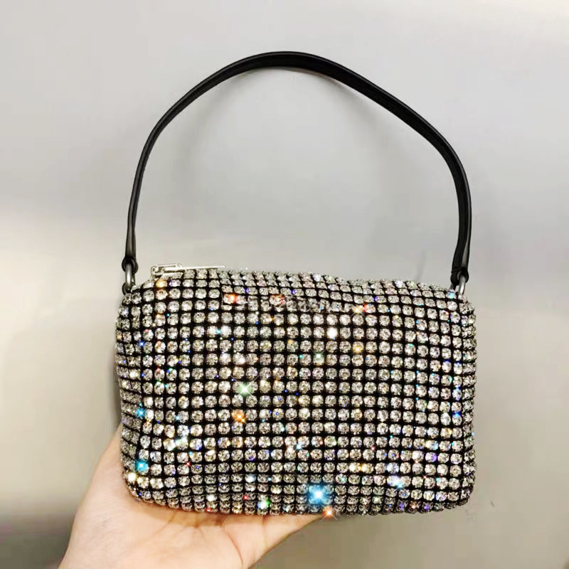 The Same Rhinestone Handbag Small 2019 New Diamond Small Square Bag Women