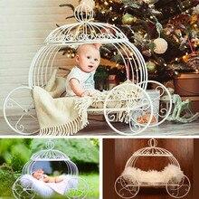 Car-Bed Furniture-Iron Photography-Props Photo-Shoot-Accessories Newborn Baby Pumpkin
