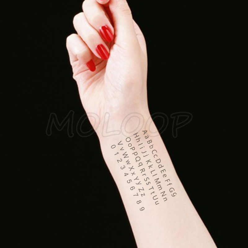 Water Transfer Black Sexy Letter Digital Tattoo Body Art Waterproof Temporary Fake Flash Tattoo For Man Woman Kid 10 5 6 Cm Aliexpress