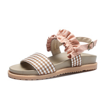 2019 Summer Style Children Sandals Girls Princess Beautiful Flower Shoes Kids Flat Baby Roman