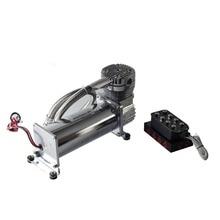 package sale DC 12V car air suspension pump ADD Suspension manifold valve 8valves