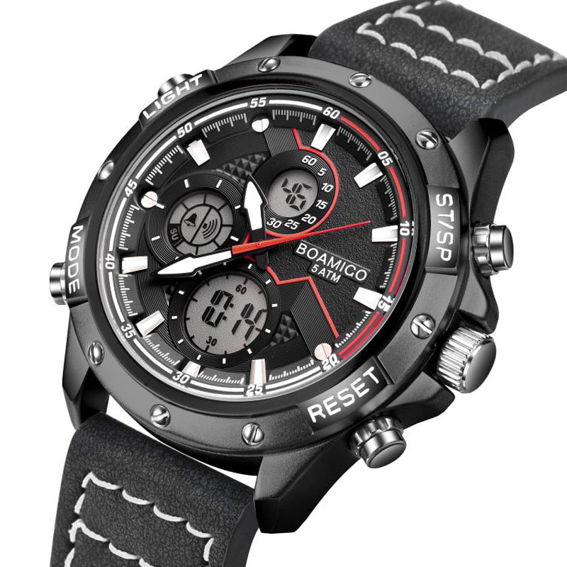 H1f0323771fdb4621974625e1aa9775caY BOAMIGO Fashion Mens Watches men Military Digital analog Quartz Chronograph sport Watch  Waterproof wristwatch relogio masculino