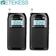2 шт retekess pr12 am fm мини портативное карманное радио приемник