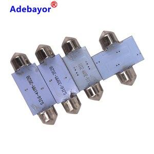 Image 3 - Dôme de voiture, 100X 39mm c10w 3528 16SMD LED, blanc bleu, ampoules pour lintérieur de voiture, plaque dimmatriculation LED