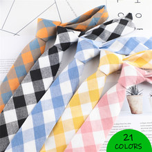 Men Leisure Striped Ties Cotton Skinny Narrow Slim Neckties Fashion Designer Cravat For Youth Working Meeting Shirt Accessories(China)