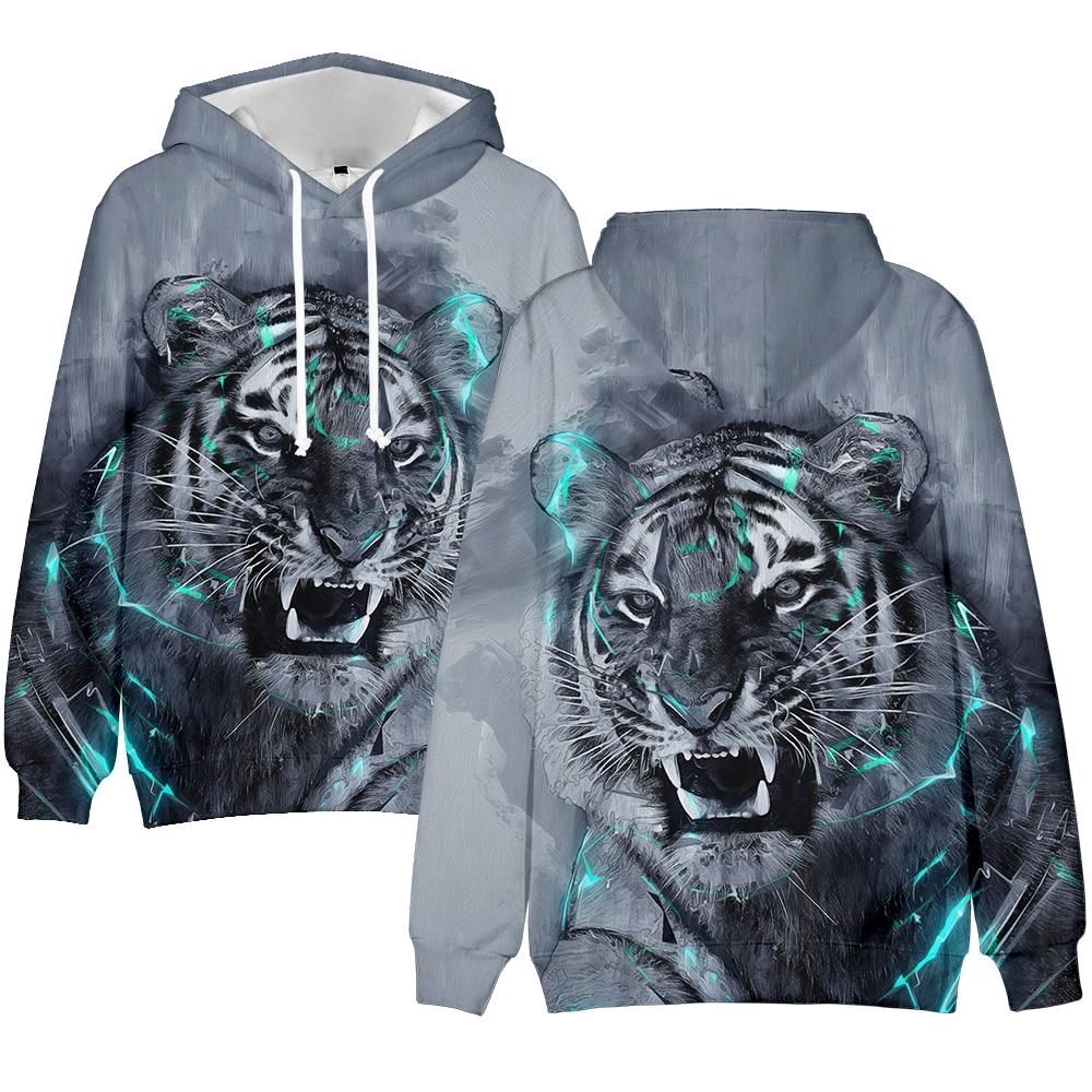 3D Print Tiger Sweatshirts Hoodies Men/women Fashion Pullover High Quality Hoodies Sweatshirt 3D Style Sports Hooded Boys/Girls