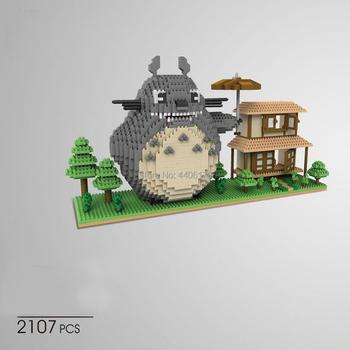 hot lepining creators Classic Japan Anime Hayao Miyazaki cartoon Totoro micro diamond building blocks model bricks toys for gift loz diamond blocks japan anime figure action ultraman tiga ultra man toys diy blocks bricks model building kits hero dolls 9640