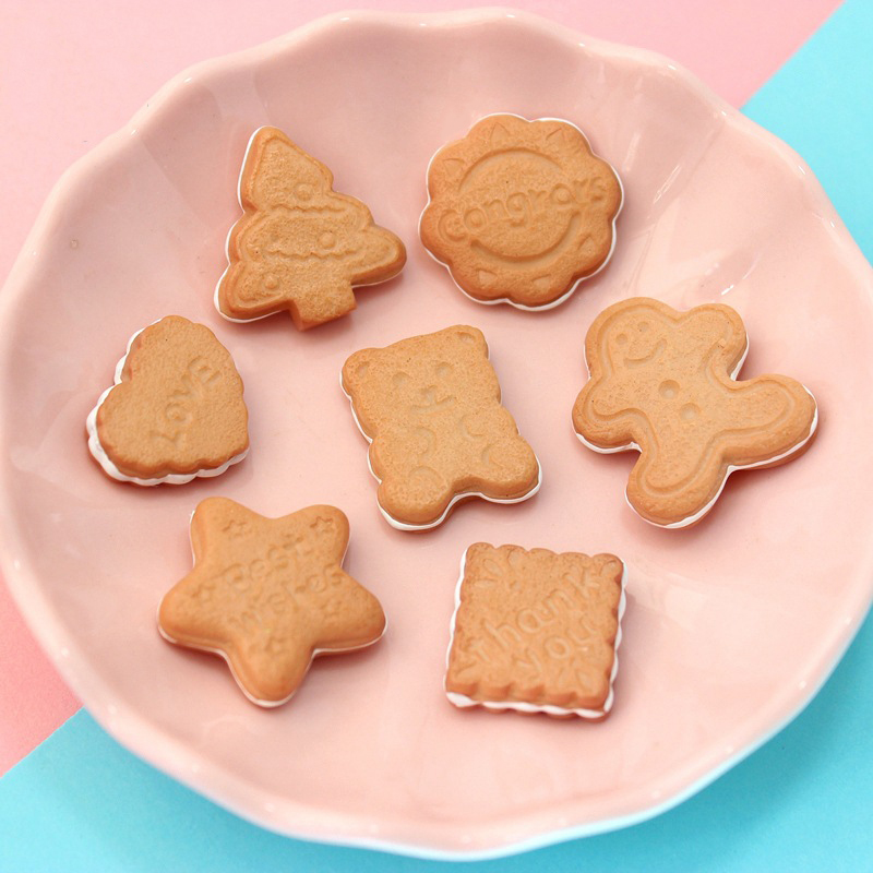 Happy Monkey Slime Charms  Resin Biscuits Additives Supplies Accessories DIY Kit For Fluffy Clear Crunchy Slime Clay