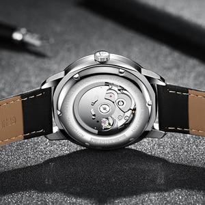 Image 4 - Cadisen 남자 시계 럭셔리 브랜드 일본 nh35a 사파이어 시계 남자 방수 캐주얼 비즈니스 가죽 손목 시계 relogio 8173