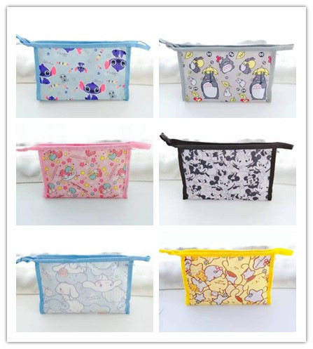 IVYYE Stitch Mickey Unicorn Fashion Anime Cosmetic Bags Oxford Zipper Travel Makeup Bag Storage Wash Toiletry Girls New