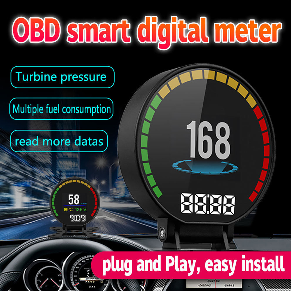 US $0 4 Colorful Screen Tachometer Multifunctional Head Up