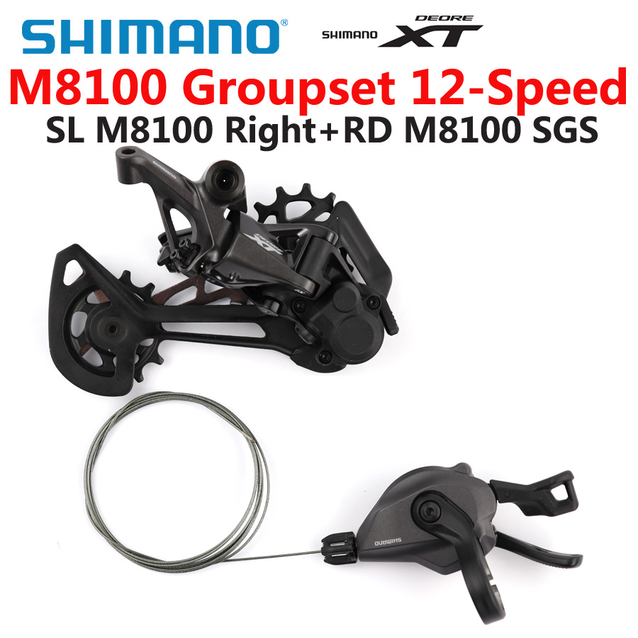 SHIMANO DEORE <font><b>XT</b></font> <font><b>M8100</b></font> Groupset Mountain Bike Groupset 1x12-Speed SL + RD <font><b>M8100</b></font> Rear Derailleur <font><b>M8100</b></font> Shifter Lever image