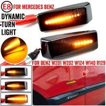 2 Pièces Dynamique LED Feu De Position Latéral Tour Répéteur Lampes Pour Mercedes Pour Benz C E S SL CLASSE W201 190 W202 W124 W140 R129