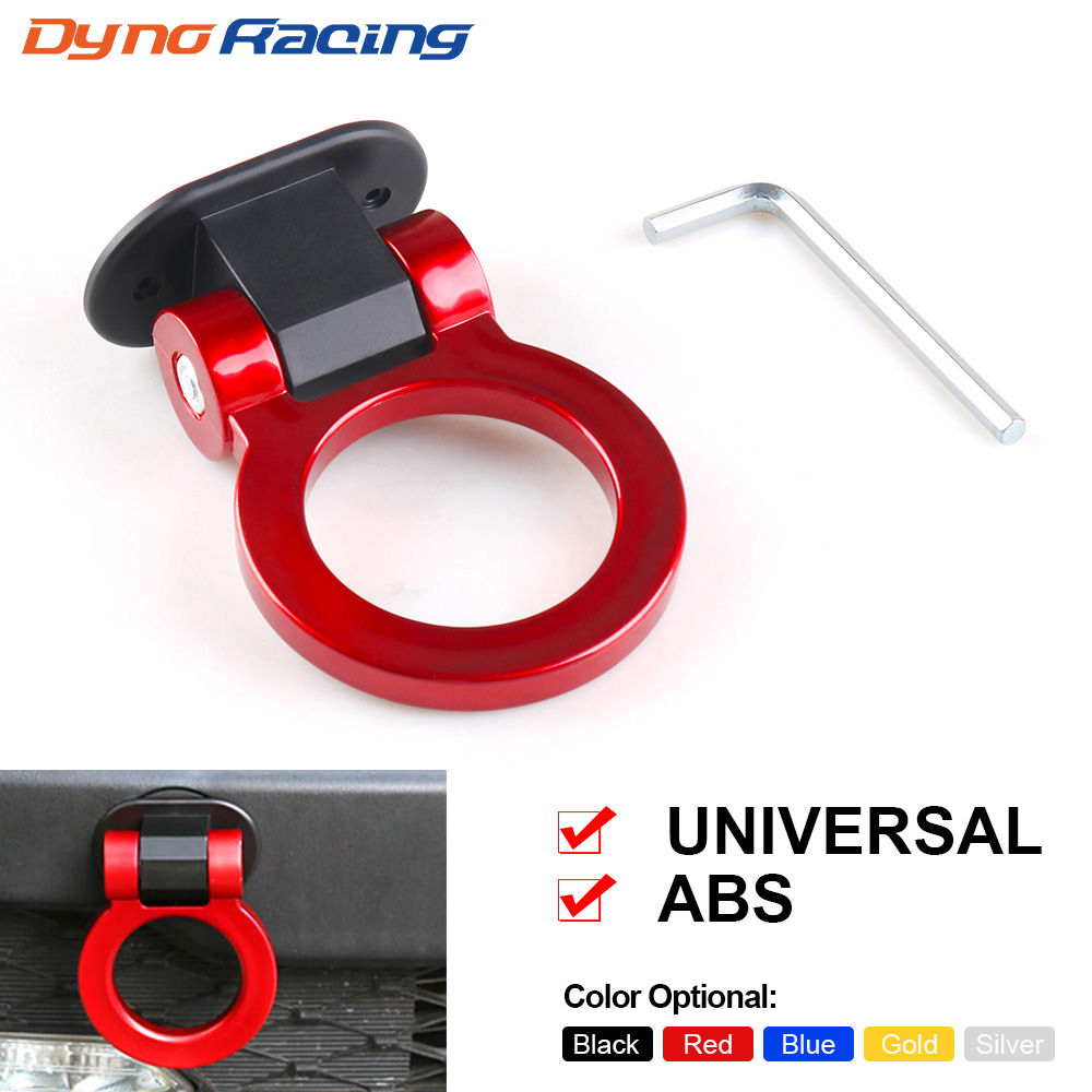 ABS Car Styling Trailer Hooks Sticker Decoration Car Auto Rear Front Trailer Simulation Racing Ring Vehicle Towing Hook