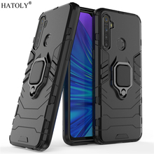 For OPPO Realme 5 Case Cover Protective Finger Ring Armor Back Shell Coque Hard PC TPU Phone