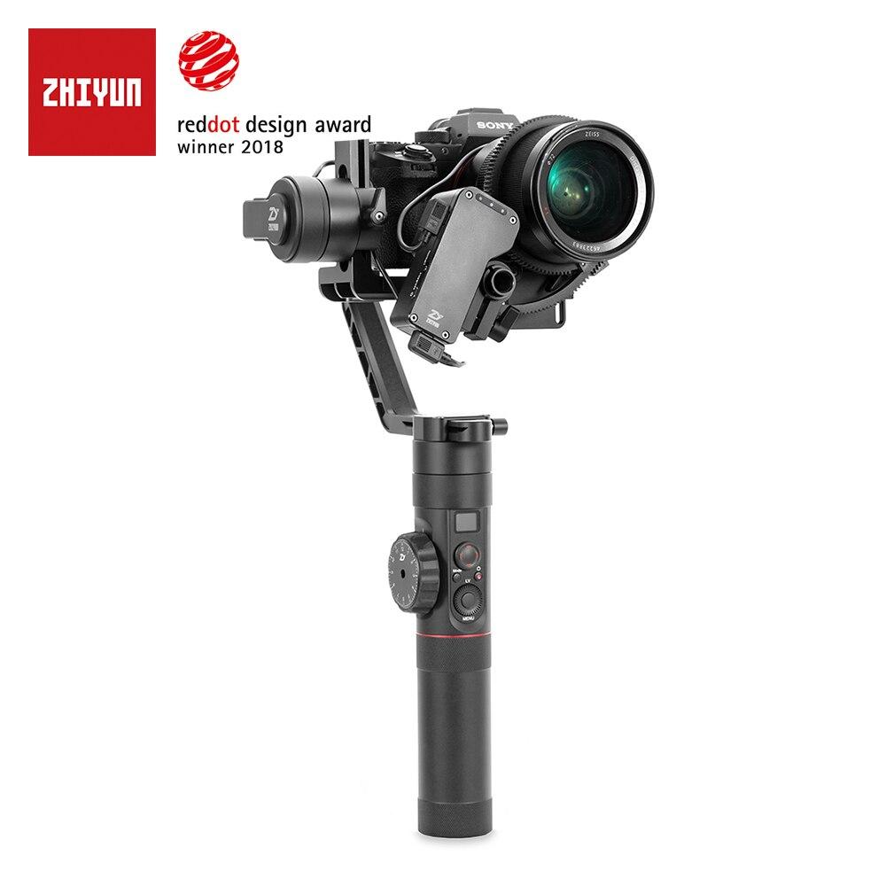 Zhiyun oficial guindaste 2 3 eixos cardan estabilizador para todos os modelos de câmera sem espelho dslr canon 5d2/3/4 com servo siga o foco