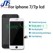 10 sztuk 100% testowany wyświetlacz LCD dla IPhone 7 Plus 7 P 7G ekran dotykowy z Digitizer wymiana części montażowych