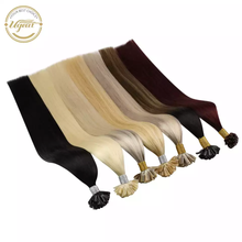 """[33% off]Ugeat U Tip Nail Hair Extensions Machine Remy Hair 14 24"""" Natural Real Human Hair Pre bonded Hair Extensions 50g/100g"""