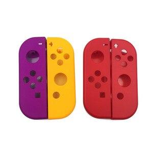 Image 1 - 1 Paar Paars Oranje Voor Nitendo Schakelaar Ns Joycon Vreugde Con Controller Behuizing Shell Case Voor De Nintendo Switch Red Cover