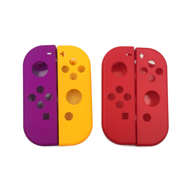 1 Paar Paars Oranje Voor Nitendo Schakelaar Ns Joycon Vreugde Con Controller Behuizing Shell Case Voor De Nintendo Switch Red Cover
