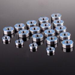 Nowość ENRON 15 sztuk łożyska kulkowe niebieska guma zamknięte Traxxas SLASH 2WD zestaw 15P 5x11x4mm 4P 5x8x2.5mm-2