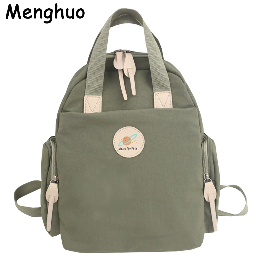 MENGHUO 2019 New Women Mars Society Nylon Backpack Travel Laptop Bag Casual School Bags High Quality Backpacks Mochila Bolsa