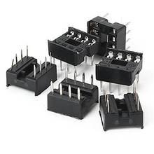 50 шт 8 pin 8pins dil dip ic socket pcb mount contor new хорошее
