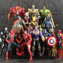 Marve – figurines de Super héros Avengers 3, 16cm, modèle de guerre infinie, Captain America, Iron Man, poupées, jouets, cadeaux pour enfants
