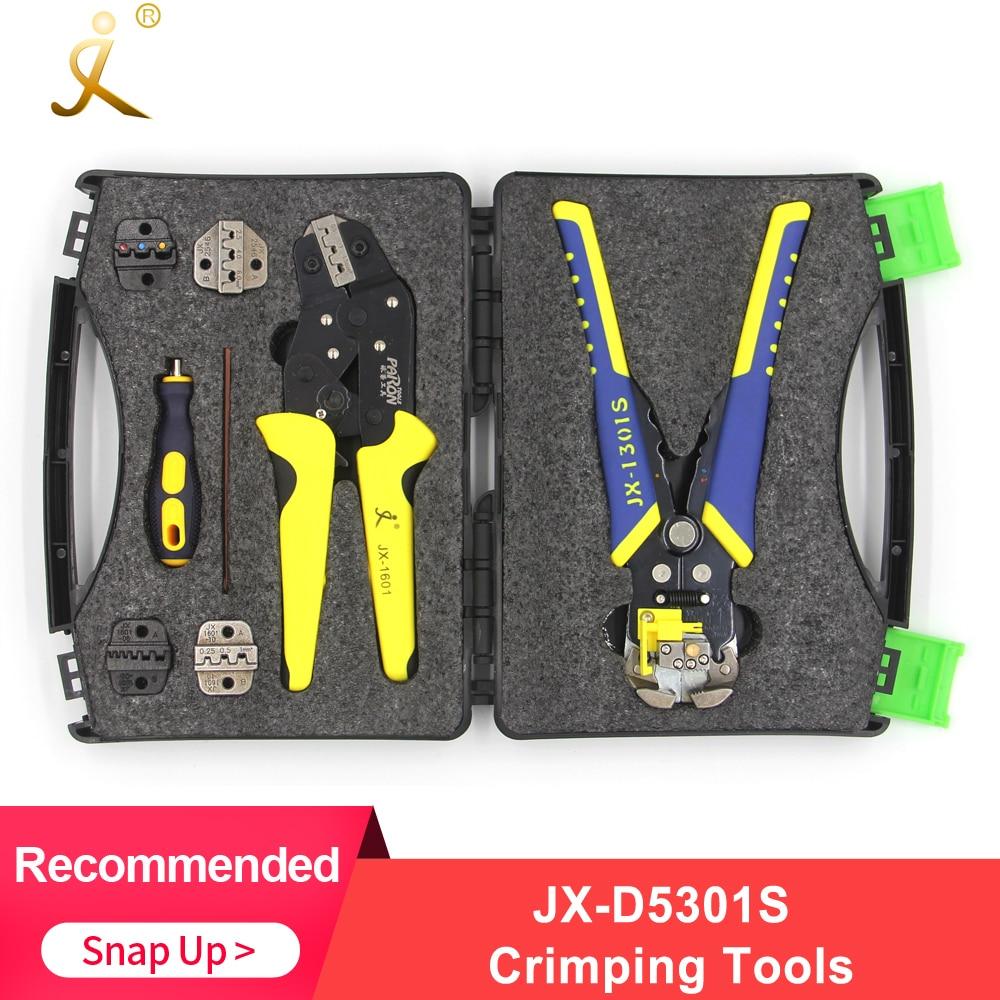 Paron JX-D5301S ferramenta de friso de fio profissional crimper multi-ferramenta alicate de corte de descascador de fio conjunto de ferramentas de cortador de cabo