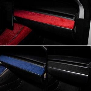 Heenvn ModelY Model3 Автомобильная центральная консоль для Tesla Model 3 Аксессуары замшевая защита для Tesla Model Y Model Three Blue
