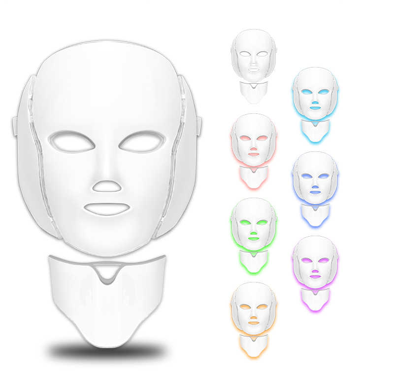 Face Lifting Mask LED Therapy หน้ากากเกาหลี Photon Therapy Face Mask Light Therapy เครื่องสิวหน้ากากความงาม LED หน้ากากเครื่องมือ