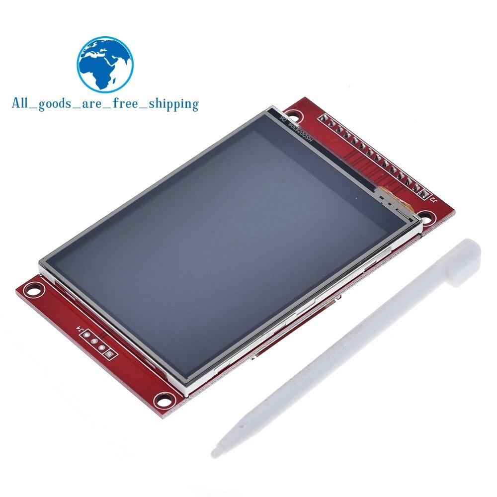"""240x320 2.8 """"Painel TFT LCD de Toque Módulo de Porta Serial SPI Com PBC ILI9341 2.8 Polegada SPI Serial display LED branco com Caneta de Toque"""