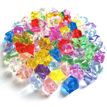 150Pcs Display Acrylic Batu Hiasan Dekorasi Permata Vas Kerikil Ornamen DIY Kerajinan Crystal(China)