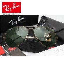 RayBan Солнцезащитные очки женские RayBan RB3025 открытый glassate RayBan солнцезащитные очки для мужчин/женщин ретро солнцезащитные очки Ray Ban Авиатор RB3025