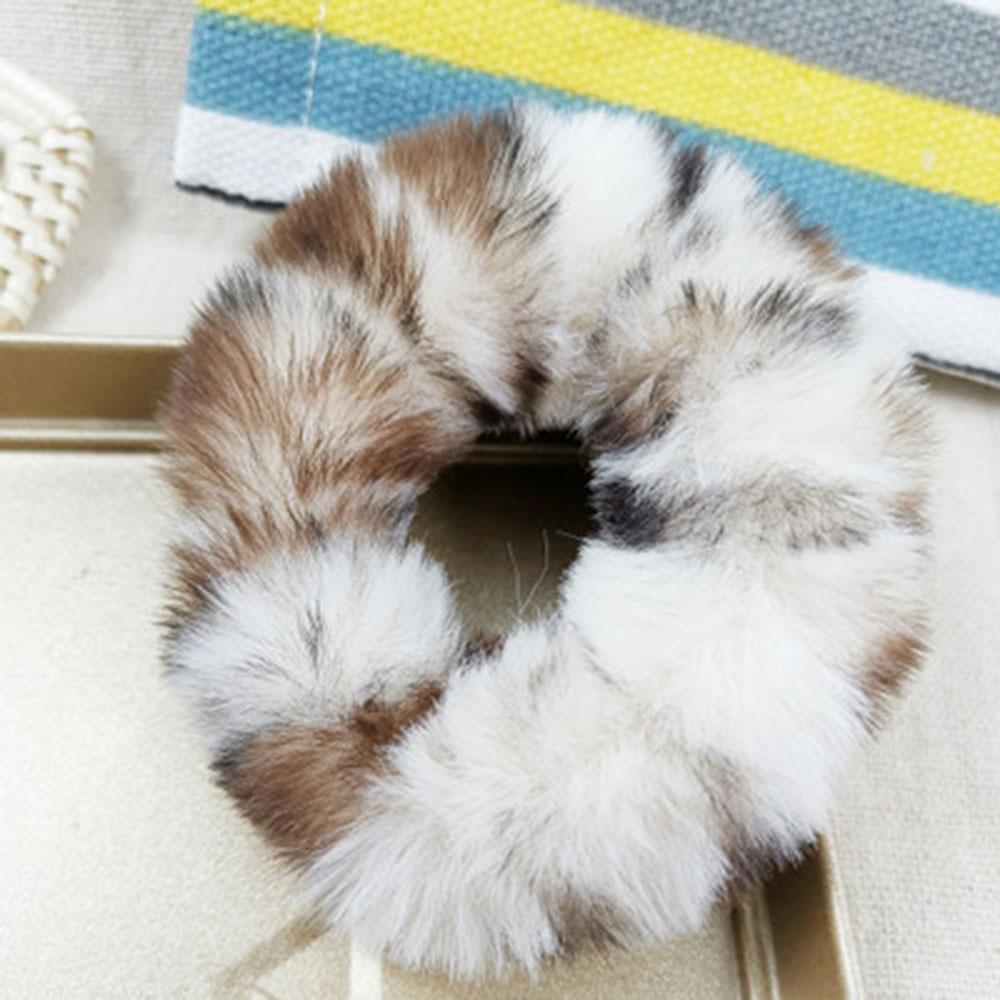 1 шт., новинка, модные разноцветные меховые резинки с леопардовым принтом, эластичные резинки для волос для девочек, теплый конский хвост, держатель для девушек и женщин - Цвет: P