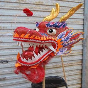 Image 5 - למבוגרים נגן גודל 4 משי frabic הסיני DRAGON ריקוד מקורי הדרקון הסיני עממי פסטיבל חגיגה הדרקון תלבושות