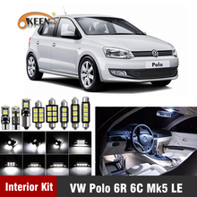12pcs Led Bulbs For Volkswagen VW Polo 6R 6C Mk5 2009 2018 Led Interior Light Kit Map Dome Trunk Plate Light Car Accessories