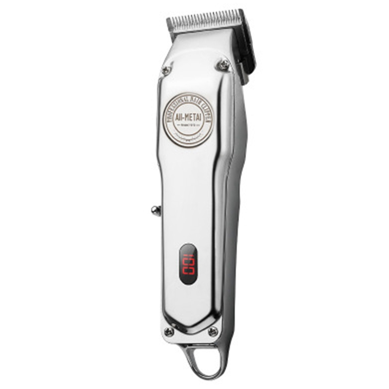 Rechargeable Hair Clipper Cordless Electric Hair Trimmer ProfessionalBeard Shaver Machine All Metal