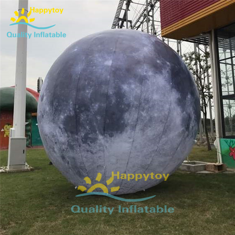 Customized Event Inflatable Moon Giant Globe Inflatable Balloon Blue White Moon Ball Inflatable Planet
