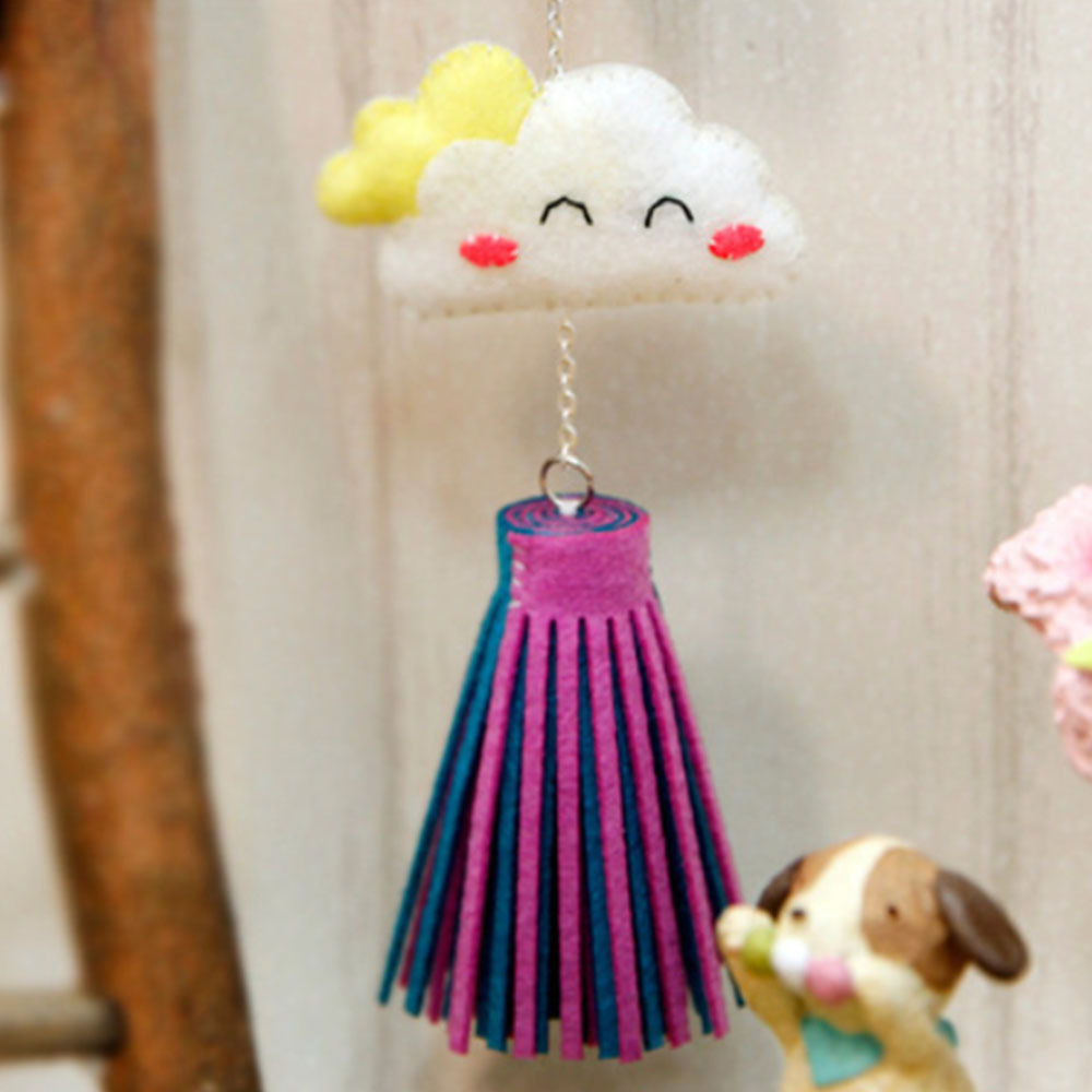 Hot Air Balloon Ornaments DIY Free Cutting Handmade Sewing Felt Cloth Garland Pendant Home Decoration Crafts