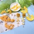 Ztech Trend Gelb Farbe Spitze/Blütenblatt Blume Quaste Ohrringe Für Frauen Hohe-Qualität Handmade erklärung Große Ohrringe Zubehör