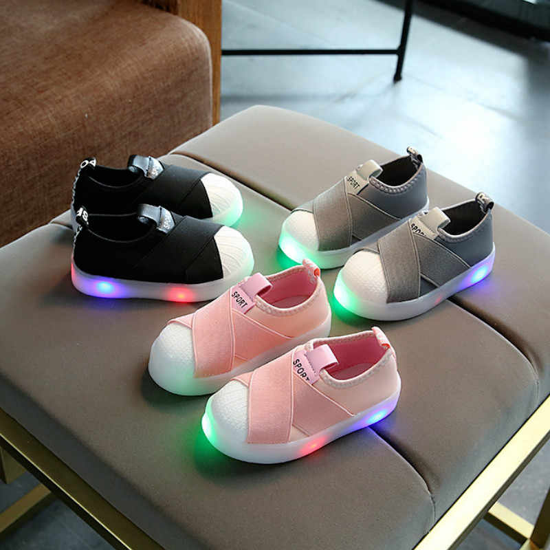 Glowing Sneakers Kids LED Shoes Luminous Sneakers Breathable Children Shoes for Baby Girls Boys Luminous Shoes with Light