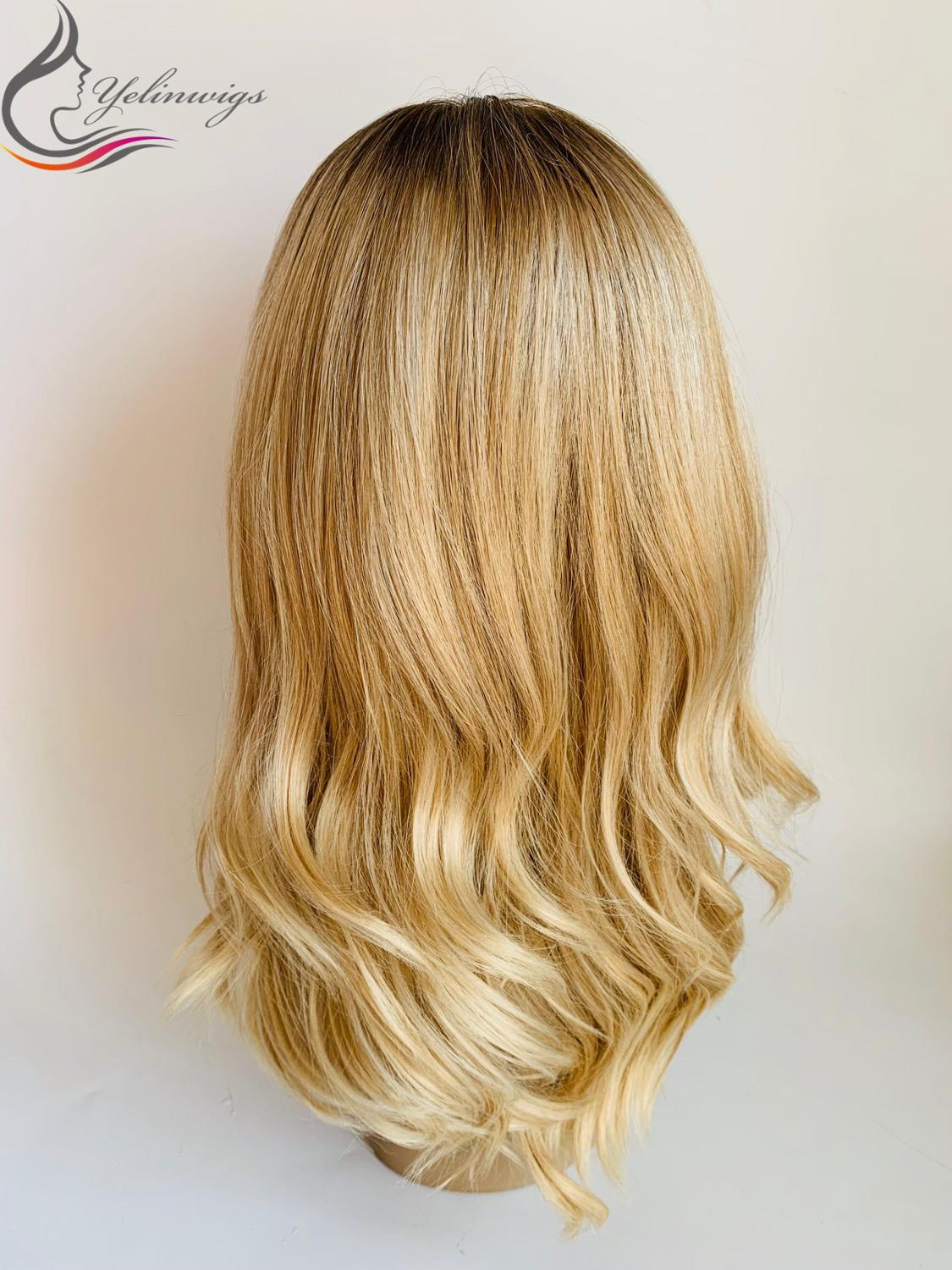 Unprocessed Silk Base European Hair Blonde Color Wigs Fashion Color Jewish Kosher Wigs Small Layer