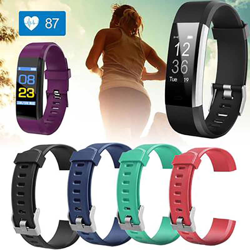 Replacement Silicone Sport Band Strap For ID 115 Plus Pedometer HR Smart Watch Strap Watch Band Wrist Band Accessories